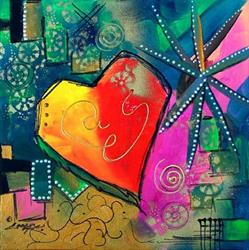 Art: TROPICAL HEART by Artist Dottie Cooper Katz