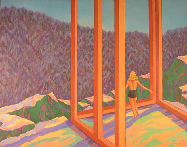 Art: Blue Mountain Overlook by Artist Virginia Ann Zuelsdorf