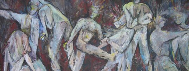 Art: The Way We Dance (sold) by Artist Virginia Ann Zuelsdorf