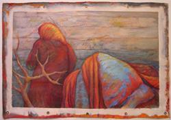 Art:  Winter (sold) by Artist Virginia Ann Zuelsdorf