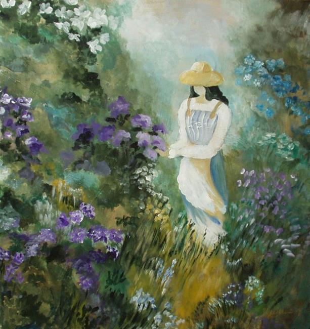 Art: Walk in the Garden by Artist Gail Meyer