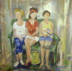 Art: Franklin Street Shoppers by Artist Gail Meyer