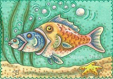 Big fish little fish food chain by susan brack from fish for Susan s fish and chips