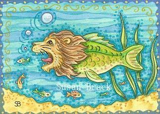 Art: LION FISH by Artist Susan Brack