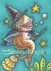 Art: IF FISHES WERE WITCHES by Artist Susan Brack