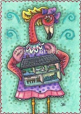 Art: DOLLY'S DOLL HOUSE by Artist Susan Brack