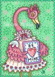 Art: PRETTY IN PINK VALENTINE by Artist Susan Brack