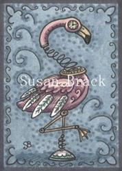 Art: STEAMPUNK FLAMINGO by Artist Susan Brack