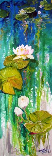 Art: WATERLILY & REFLECTIONS NO. 1 by Artist Marcia Baldwin