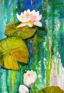 Detail Image for art WATERLILY & REFLECTIONS NO. 1