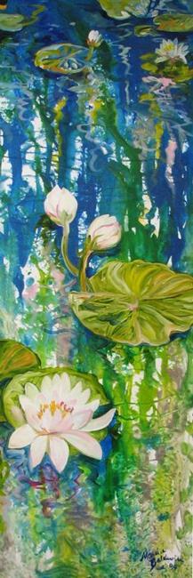 Art: WATERLILY & REFLECTIONS NO. 2 by Artist Marcia Baldwin