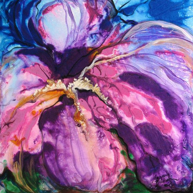 Art: PURPLE RAIN IRIS ABSTRACT by Artist Marcia Baldwin