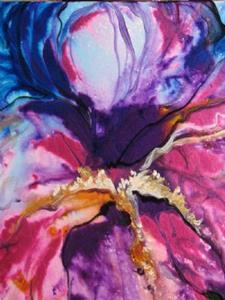 Detail Image for art PURPLE RAIN IRIS ABSTRACT