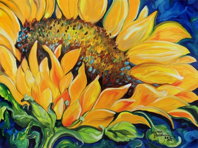 Art: SUNFLOWER SEPTEMBER 2012 by Artist Marcia Baldwin