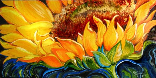 Art: SUNFLOWER RISE 'n SHINE by Artist Marcia Baldwin