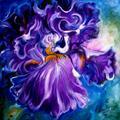 Art: IRIS ABSTRACT by Artist Marcia Baldwin