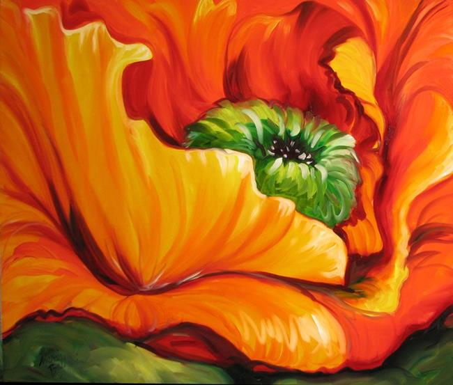 RED POPPY ABSTRACT - by Marcia Baldwin from FLORALS