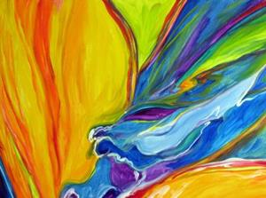 Detail Image for art Abstraction of the Bird Of Paradise