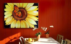 Detail Image for art SUNFLOWER & BUTTERFLY