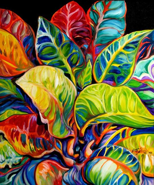 Art: TROPICAL ABSTRACT by Artist Marcia Baldwin