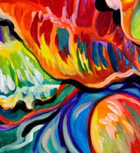 Detail Image for art TROPICAL ABSTRACT