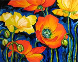 Art: POPPIES  by Artist Marcia Baldwin