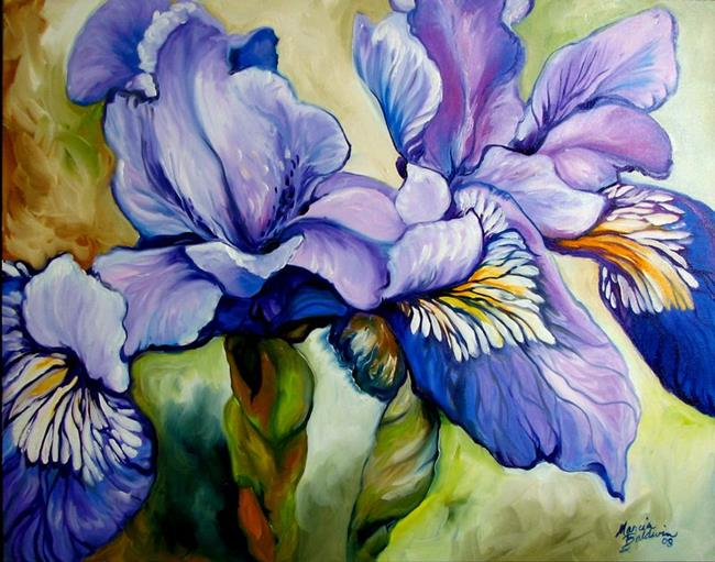 Art: Louisiana Wild Iris Abstract by Artist Marcia Baldwin