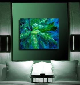 Detail Image for art GREEN FERN ABSTRACT