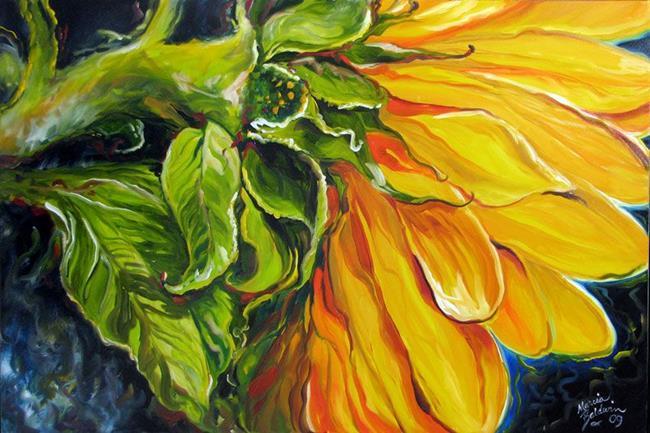 Art: SUNFLOWER SUN PETALS by Artist Marcia Baldwin