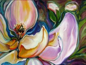 Detail Image for art SWEET MAGNOLIA Modern Floral Abstract