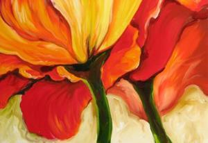Detail Image for art GOLDEN POPPY ABSTRACT
