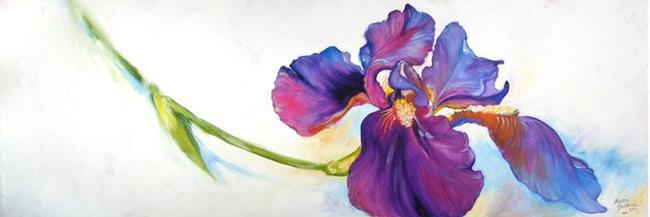 Art: Freshly Picked Purple Iris by Artist Marcia Baldwin