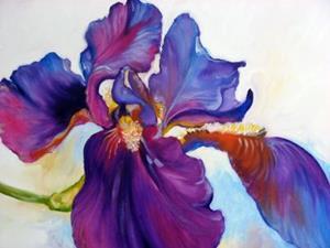 Detail Image for art Freshly Picked Purple Iris