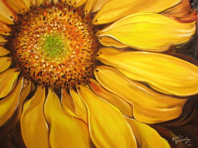 SUMMER'S NIGHT SUNFLOWER - by Marcia Baldwin from FLORALS