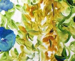 Detail Image for art MORNING GLORIES ABSTRACT