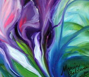 Detail Image for art PURPLE HAZE FLORAL ABSTRACT