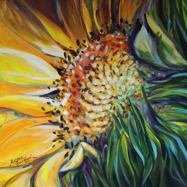Art: SUNFLOWER BURST by Artist Marcia Baldwin