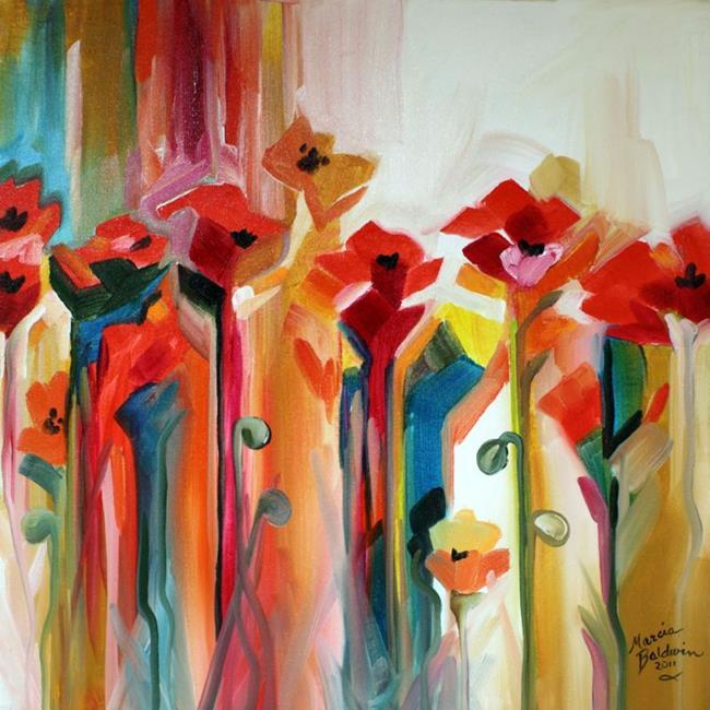 Art: ABSTRACT POPPY WILD by Artist Marcia Baldwin