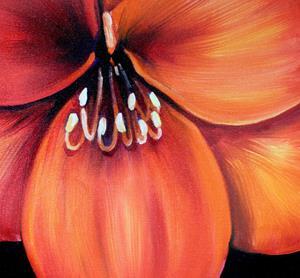 Detail Image for art FLAME AMARYLLIS