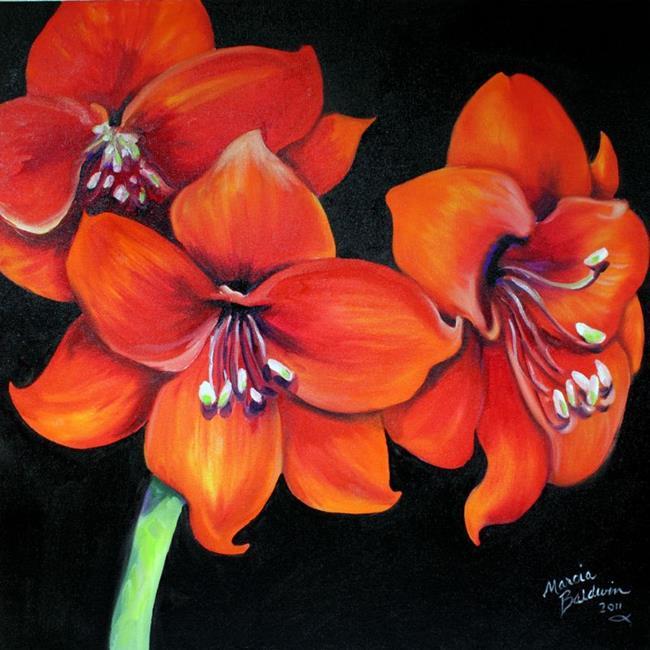 Art: FLAME II AMARYLLIS by Artist Marcia Baldwin