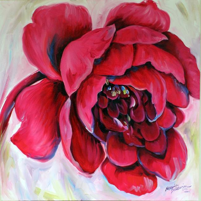 Art: RED PEONY RED by Artist Marcia Baldwin