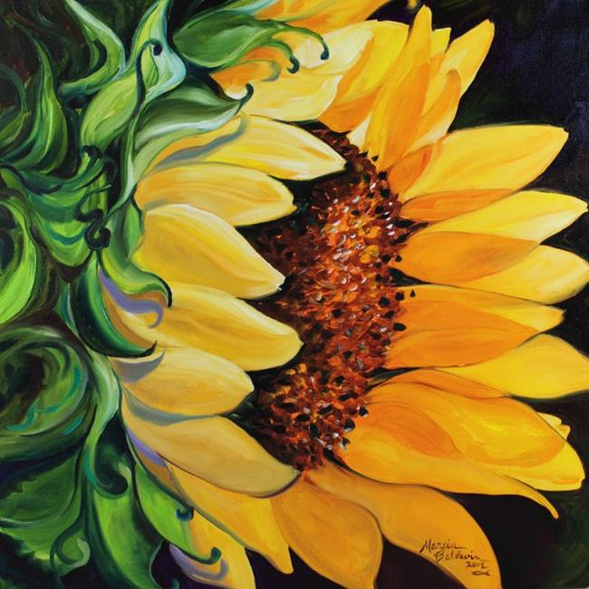 Art: SUNFLOWER SUNLIT by Artist Marcia Baldwin