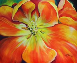 Art: HOLLAND TULIP AWAKENING by Artist Marcia Baldwin