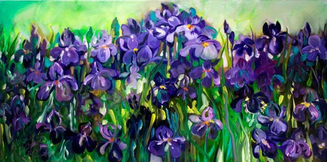Art: PURPLE IRIS ABSTRACT 36 by Artist Marcia Baldwin
