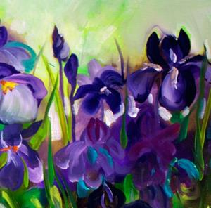 Detail Image for art PURPLE IRIS ABSTRACT 36