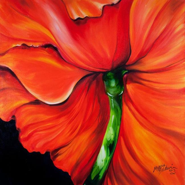 Art: RED POPPY ONE by Artist Marcia Baldwin