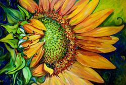 Art: NEW DAY SUNFLOWER by Artist Marcia Baldwin
