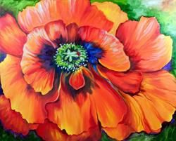 Art: BRILLIANT POPPY by Artist Marcia Baldwin