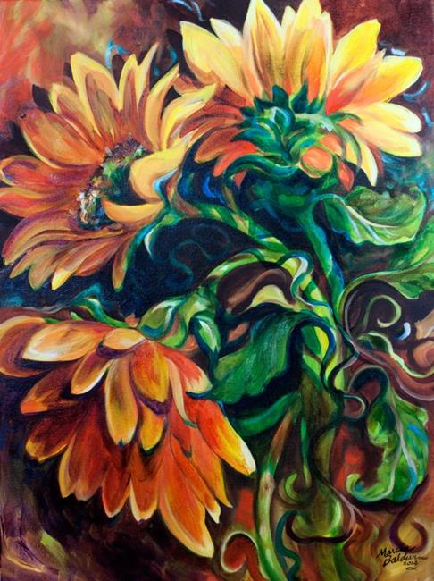 Art: SUNFLOWER TRAILS by Artist Marcia Baldwin