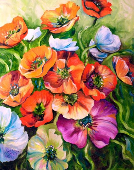 Art: POPPY SPLENDOR by Artist Marcia Baldwin